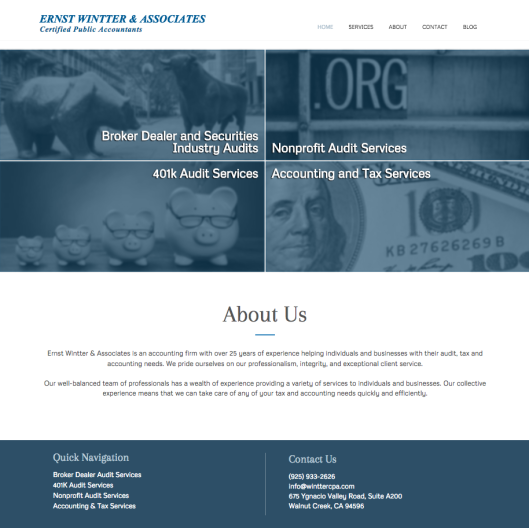 Wintter CPA - Website by WSI Connect
